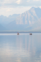 Kayaking on Lake McDonald Glacier National Park Montana