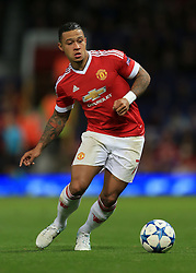 30-9-2015 ENG: UEFA Champions League Manchester United - VfL Wolfsburg, Manchester<br /> Memphis Depay of Man Utd - Photo: Simon Stacpoole / Offside.<br /> <br /> ***** NETHERLANDS ONLY ******
