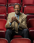 Thomas Meloncon poses for a photograph in the Sawyer Auditorium at Texas Southern University, February 13, 2015.