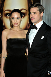 """File Photo: 08 December 2008 - Westwood, CA - Angelina Jolie and Brad Pitt. """"The Curious Case of Benjamin Button"""" Los Angeles Premiere at Mann's Village Theatre. Photo Credit: Byron Purvis/AdMedia"""
