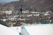 Katie Summerhayes, Great Britain, during the Womens Ski Slopestyle finals at the Pyeongchang Winter Olympics on 17th February 2018 at Phoenix Snow Park in South Korea