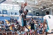 THOUSAND OAKS, CA Sunday, August 12, 2018 - Nike Basketball Academy. Vernon Carey Jr 2019 #21 of NSU University School shoots. <br /> NOTE TO USER: Mandatory Copyright Notice: Photo by John Lopez / Nike