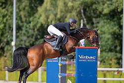 Romp Ruben, NED, Icarus V<br /> Nationaal Kampioenschap KWPN<br /> 7 jarigen springen final<br /> © Hippo Foto - Dirk Caremans<br />  19/08/2020