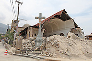Church in Port-au-Prince destroyed by the earthquake.