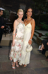 Left to right, CHARLOTTE DUTTON and SOPHIE ANDERTON at the annual Michele Watches Summer Party held in the gardens of Home House, 20 Portman Square, London W1 on 15th June 2006.<br /><br />NON EXCLUSIVE - WORLD RIGHTS