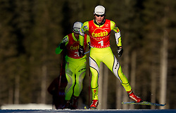 Mitja Oranic of NSK Trzic - Trifix and Marjan Jelenko of SSK Velenje during cross country race for Slovenian National Nordic combined Championship, on January 5, 2011 at Rudno polje, Pokljuka, Slovenia. (Photo by Vid Ponikvar / Sportida.com)