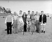 Cyclists prepare for the Ras  in the 1950's.<br /> Picture: macmonagle archive<br /> e: info@macmonagle.com