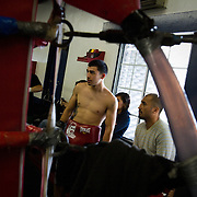 Overall scene at the Maywood Boxing Club where Abner Mares trains.