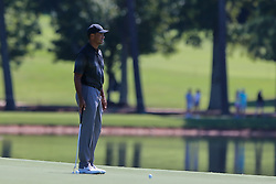 September 19, 2018 - Atlanta, Georgia, United States - Patton Kizzire gestures on the 10th tee during the practice round at the 2018 TOUR Championship. (Credit Image: © Debby Wong/ZUMA Wire)