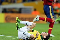 Oscar do Santos Emboaba Jr. na partida entre Brasil e Espanha válida pela final da Copa das Confederações 2013, no estádio Maracanã, no Rio de Janeiro. FOTO: Jefferson Bernardes/Preview.com