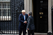 Prime Minister Boris Johnson meets King Abdullah II of Jordan  for bilateral talks at 10 Downing Street on 7 August, 2019 in London, United Kingdom.