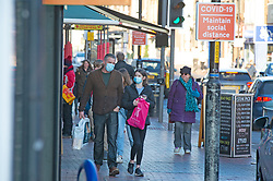 © Licensed to London News Pictures 09/01/2021.         Tonbridge, UK. People out and about in Tonbridge High Street in Kent this afternoon. The Coronavirus infection rate in Kent continues to rise as the mutant strain spreads across the county. Photo credit:Grant Falvey/LNP