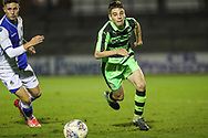 Forest Green Rovers Jacob Waddington(3) runs forward during the The FA Youth Cup match between Bristol Rovers and Forest Green Rovers at the Memorial Stadium, Bristol, England on 2 November 2017. Photo by Shane Healey.