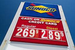 August 31, 2017 - Tequesta, Florida, U.S. - Gas prices on the rise in Tequesta, Florida on August 31, 2017. (Credit Image: © Allen Eyestone/The Palm Beach Post via ZUMA Wire)