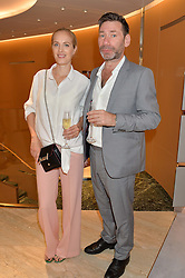 POLLY MORGAN and MAT COLLISHAW at a dinner hosted by Tod's to celebrate the refurbishment of their store 2-5 Old Bond Street, London on 15th September 2016.