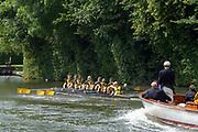 Henley on Thames, England, United Kingdom, 3rd July 2019, Henley Royal Regatta  Princess Elizabeth Challenge Cup, Hampton School Henley Reach, [© Peter SPURRIER/Intersport Image]<br /> <br /> 11:40:38 1919 - 2019, Royal Henley Peace Regatta Centenary,