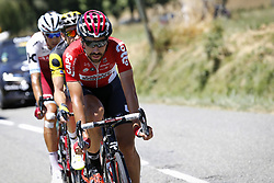 July 15, 2017 - Rodez, FRANCE - Belgian Thomas De Gendt of Lotto Soudal pictured in action during the 14th stage of the 104th edition of the Tour de France cycling race, 181,5 from Blagnac to Rodez, France, Saturday 15 July 2017. This year's Tour de France takes place from July first to July 23rd. BELGA PHOTO YUZURU SUNADA (Credit Image: © Yuzuru Sunada/Belga via ZUMA Press)
