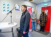 ROTTERDAM, 07-04-2021,  Huntsman Holland BV <br /> <br /> Koningin Maxima bezoekt pilotprojecten rond sneltesten in onderwijs en bedrijfsleven op de Valentijnschool in Rotterdam-Delfshaven en petrochemiebedrijf Huntsman Holland BV in Rotterdam-Botlek. De bezoeken staan in het teken van pilotprojecten rond de invoering van zelf- en sneltesten in het onderwijs en het bedrijfsleven ter bestrijding van het coronavirus. FOTO: Brunopress/ROTA/Mischa Schoemaker<br /> <br /> Queen Maxima visits pilot projects on rapid tests in education and business at the Valentine's School in Rotterdam-Delfshaven and the petrochemical company Huntsman Holland BV in Rotterdam-Botlek. The visits are devoted to pilot projects on the introduction of self-testing and rapid tests in education and industry to combat the corona virus.