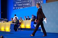 17 JAN 2009, BERLIN/GERMANY:<br /> Dr. Silvana Koch-Mehrin, MdEP, Vorsitzende der FDP im Europaparlament, auf dem Weg zu Rednerpult, Europaparteitag der FDP, Estrel Convention Center<br /> IMAGE: 20090117-01-041<br /> KEYWORDS: party congress