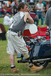 Annual motorcycle hillclimbs during Laconia Motorcycle Week. NH, USA. June 18, 2014.  Photography ©2014 Michael Lichter.