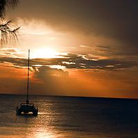 Ship at Anchor off Seven Mile Beach Grand Cayman
