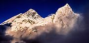 Chomolungma , SW face Everest  & Nuptse from Kala Pattar , Khumbu Himal, Nepal