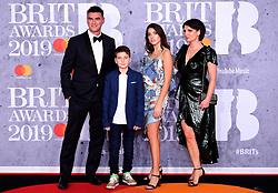 The family of Dua Lipa, parents Dukagjin and Anesa Lipa and siblings Rina and Gjin attending the Brit Awards 2019 at the O2 Arena, London.