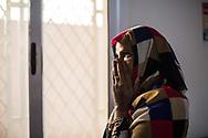 22012018. Niger. Niamey. Guichet unique du HCR. Service de santé, d'éducation de conseil aux migrants. Fatouma (nom d'emprunt), 28 ans, somalienne, évacuée de Libye par le HCR avec sa fille de trois ans.