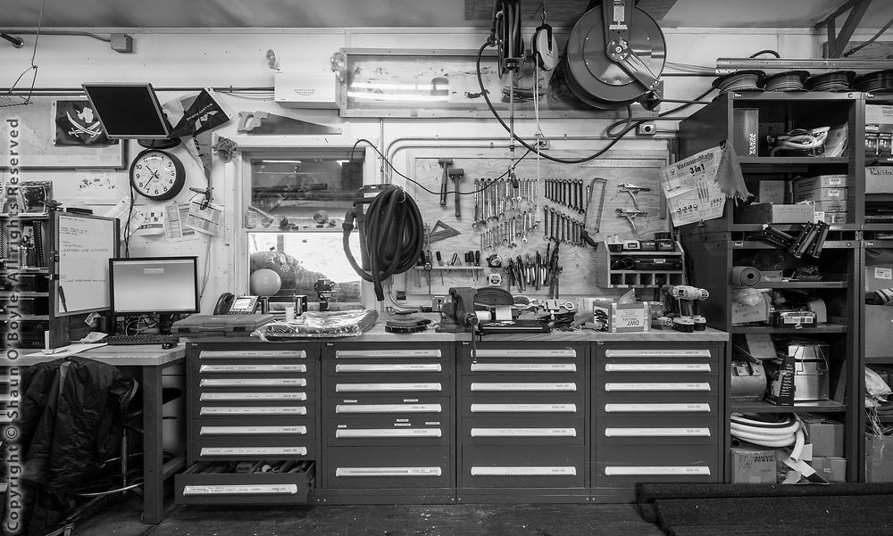 Boathouse work bench