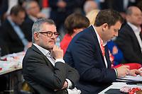 DEU, Deutschland, Germany, Berlin, 06.12.2019: Der SPD-Bundesschatzmeister Dietmar Nietan (MdB, SPD) beim Bundesparteitag der SPD im CityCube.