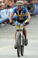 Sykkel , 20 August 2005 , Birkebeinerrittet ,<br /> UCI Mountain Bike Marathon , World Championships ,<br /> Lillehammer - Norway <br /> <br /> Anna Enocsson , SWE ble nr.4.