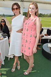 Left to right, ANNA FRIEL and LAURA CARMICHAEL at the St.Regis International Polo Cup at Cowdray Park, Midhurst, West Sussex on 17th May 2014.