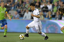 September 27, 2017 - Seattle, WASHINGTON, U.S - Soccer 2017: Vancouver forward FREDY MONTERO (12) in action as the Vancouver Whitecaps visit the Seattle Sounders for an MLS match at Century Link Field in Seattle, WA. (Credit Image: © Jeff Halstead via ZUMA Wire)