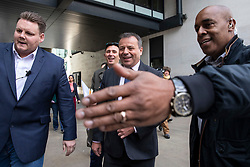 © Licensed to London News Pictures. 04/11/2018. London, UK. Co-founder of the Leave.EU campaign Arron Banks leaves BBC Broadcasting House. Photo credit: Rob Pinney/LNP