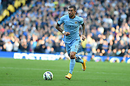Aleksandar Kolarov of Man city in action.Barclays premier league match, Manchester city v Chelsea at the Etihad stadium in Manchester,Lancs on Sunday 21st Sept 2014<br /> pic by Andrew Orchard, Andrew Orchard sports photography.