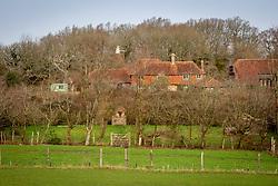 View of Perch Hill farm in late winter