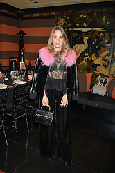 ROSIE FORTESCUE at a private dinner for designer Ethan K held at Blakes Hotel, 33 Roland Gardens, London on 26th October 2016.