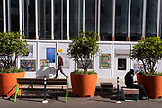 In the week that many more Londoners returned to their office workplaces after the Covid pandemic, London Art colleges exhibit graduates' Fine Art and Performance work in the City of London, the capital's financial district, on 8th September 2021, in London, England.