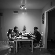 Erin celebrates the first night of Chanukah with her children at home which began with dinner.