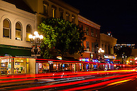 Gaslamp Quarter, Downtown San Diego, California USA.