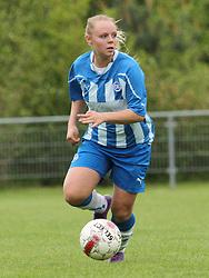 FODBOLD: Marlene Pallesen (OB) under kampen i 3F Ligaen mellem Taastrup FC og OB den 12. maj 2012 i Taastrup Idrætspark. Foto: Claus Birch