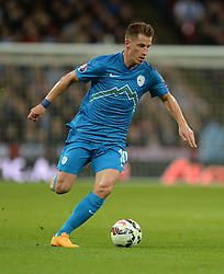 Valter Birsa of Slovenia  - Photo mandatory by-line: Alex James/JMP - Mobile: 07966 386802 - 15/11/2014 - SPORT - Football - London - Wembley - England v Slovenia - EURO 2016 Qualifier