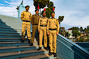 Young soldiers posing, Mary Help of Christians Cathedral, Shillong, Meghalaya, India