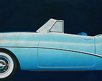 If you want to give your interior an extra stylish detail, this painting by a 1956 Buick Skylark is perfect. –<br />