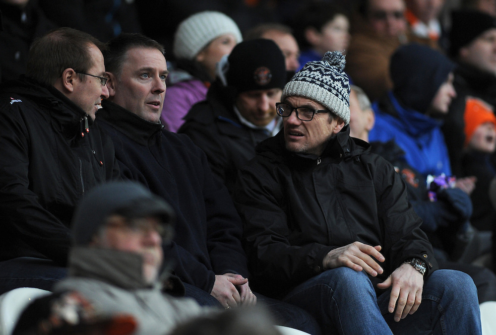 Blackpool fans look on during their sides 3-1 defeat<br /> <br /> Photographer Kevin Barnes/CameraSport<br /> <br /> Football - The Football League Sky Bet Championship - Blackpool v Wigan Athletic - Saturday 28th February 2015 - Bloomfield Road - Blackpool<br /> <br /> © CameraSport - 43 Linden Ave. Countesthorpe. Leicester. England. LE8 5PG - Tel: +44 (0) 116 277 4147 - admin@camerasport.com - www.camerasport.com