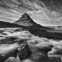 Kirkjufell, a mountain on West Iceland's Snæfellsnes peninsula is located in the town of Grundarfjörður.