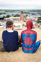 Atmosphere during the Glastonbury Festival at Worthy Farm in Pilton, Somerset. Picture date: Sunday June 25th, 2017. Photo credit should read: Matt Crossick/ EMPICS Entertainment.