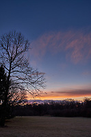 Winter Backyard Dawn Sky in New Jersey. Image 2 of 8 taken with a Fuji X-T1 camera and 16 mm f/1.4 lens (ISO 200, 16 mm, f/8, 1/60 sec). Raw images processed with Capture One Pro and the composite generated using AutoPano Giga Pro.
