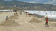 Corail is the location of the government relocation camp in Haiti with over 5,000 earthquake victims living in tents on June 30, 2010.