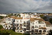 Hotels and appartments at Cala Ferrera.